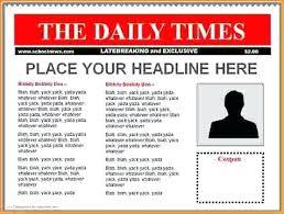Best Of Blank Newspaper Article Template Sample Word News Paper