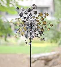 kinetic spinners for the garden wind sculptures n spinners gold and silver dots metal wind spinner