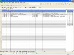 monthly household expenses sheet monthly home budget spreadsheet excel free household expenses