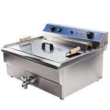 Ticari kullanım fritöz 220V 7000W 30L büyük endüstriyel yağ fritöz elektrik  yağ yağ kızartma makinesi kızarmış balık tavuk patates|Elektrikli Fritözler
