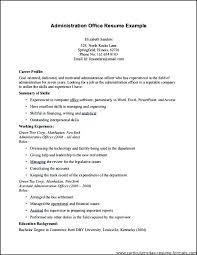 Sample Resumes For Office Assistant Office Administrator Resume