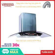 Máy hút mùi kính cong Vanessa 6170g-70cm thiết kế mặt kính chống vân tay  tạo thẩm mỹ cao, thân vỏ bằng chất liệu inox cao cấp giá rẻ 1.517.000₫