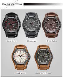 curren men s leisure business quartz watch leather wristband watch black black brown