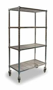 wire cart 4 shelf 72x18x70 chrome zoro select 2hde8