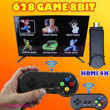 Máy chơi game 4 nút không dây HDMI PK06 - Tích hợp 628 game Contra, Battle  City, Fifa 2006, Advanture Islandi, Super mario