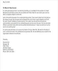 Referral Letter For Employment Employment Reference Letter Bravebtr