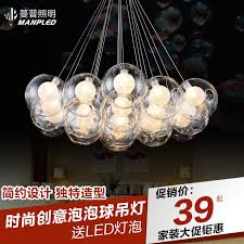 get ations bubble glass ball chandelier ball chandelier nordic creative bar restaurant chandelier lamp living room lights led