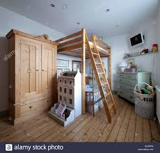 Wooden Mezzanine Bed And Wardrobe In Child S Room Of Macclesfield