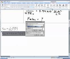 using the equation editor part v