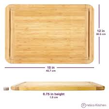 bamboo cutting board with juice groove extra large