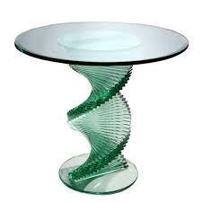 spiral glass table glass office table