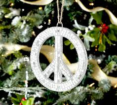 Holiday Peace Sign Decorations