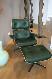 vitra eames lounge chair in dark green leather balzac lounge chair designer
