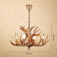 antique 4 antlers deer antler chandelier four cast candelabra style lights rustic lighting fixtures