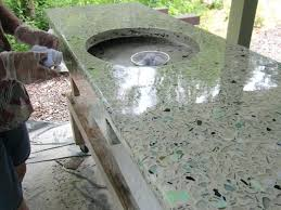 concrete countertop wax our nephew applied a thin coat of concrete wax and then buffed it to