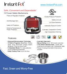 Instant Pot Ip Lux Series Specifications And Cookbook