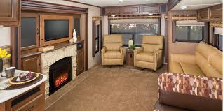 Travel trailers interior Fireplace u003cstrongu003espacious Interiorsu003cstrongu003ethe 32rlds Interior With Fawn Décor Offers Forest River Inc 2016 Jay Flight Travel Trailer Jayco Inc