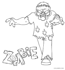 20+ Zombie Coloring Pages For Kids PNG