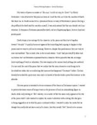 poetry writing analysis because i could not stop for death by page 1 zoom in