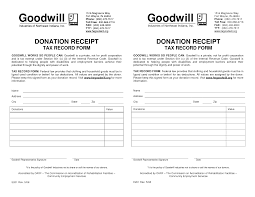Printable Donation Form Template Best Photos Of Blank Donation Receipt Template Goodwill