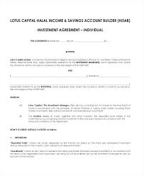 Investment Management Agreement Template Sample 6 Documents In Ideas ...