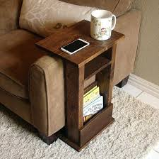 couch armrest table sofa chair arm rest table stand ii with shelf and by