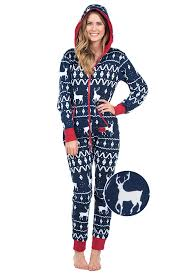 Women's Blue Reindeer Christmas Jumpsuit | Tipsy Elves
