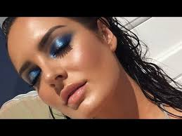 pat mcgrath labs mothership palette blue makeup look chloe morello