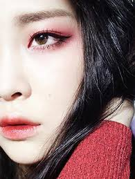 photography red makeupasian eye