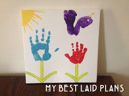 Handprint Canvas #project #kids #artwork www.mybestlaidplans.com
