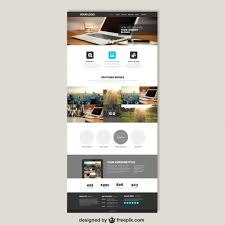 Website Template Magnificent Business Website Template Vector Free Download