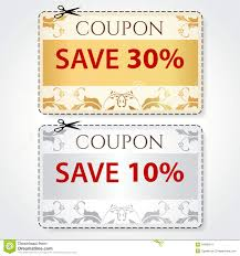 10 Off Coupon Template Sale Coupon Tag Cut Off Template Gold Pattern Stock