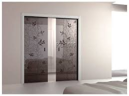 window coverings for sliding glass door in kitchen with brown theme color and cute glass art