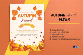 Fall Flyer Autumn Festival Flyer Template Fall Festival Flyer Autumn Flyer Ms Word Photoshop Template Instant Download