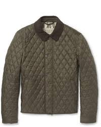 Men's Quilted Barn Jackets by Burberry | Men's Fashion & ... Burberry Brit Corduroy Collar Quilted Jacket Adamdwight.com