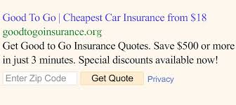 good to go insurance auto insurance