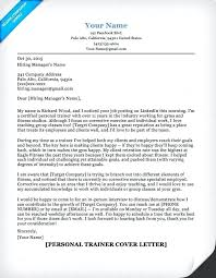 Do You Use Dear In A Cover Letter Personal Trainer Cover Letter