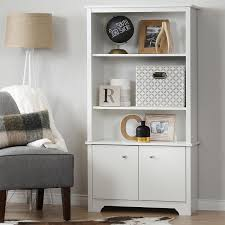 office bookcase with doors. amazoncom south shore vito 3shelf bookcase with doors pure white kitchen u0026 dining office v