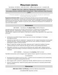 Teller Sample Monster Samples Bankteller Management Skills Examples
