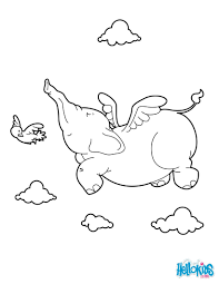 Small Picture Elephant flying coloring pages Hellokidscom
