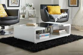 accent coffee table high gloss black
