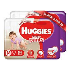 Huggies Wonder Pants Medium Size Diapers Combo Pack Of 2 54 Counts Per Pack 108 Counts