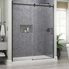 x 76 in frameless sliding shower door