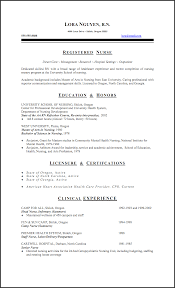 Gallery Of Examples Of Registered Nurse Resumes