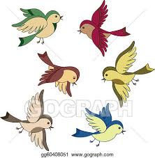 flying sparrow clipart. Interesting Flying Set Of Flying Bird Cartoon For Flying Sparrow Clipart