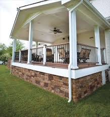 stone porches rustic porch deck skirting