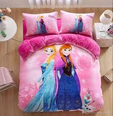 fannel pink sisters kids bedding sets children bedding warm home textiles duvet cover sets twin queen size bedding sets boy bedding sets full