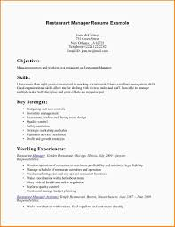 5 Resume For Restaurant Manager Paradochart