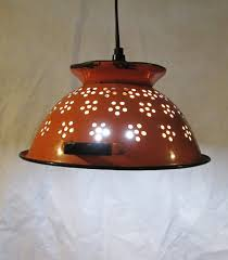 top 49 bang up lighting gorgeous diy pendant lamp shade classic brown colandar upcycled light for interesting dining room contemporary hanging lights and