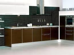 Pre Fab Kitchen Cabinets Modular Glossy Dark Brown Prefab Kitchen Cabinets Prefab Kitchen